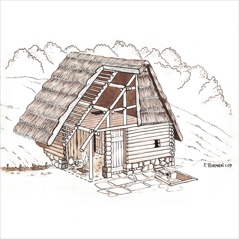 Illustrazione storica fausto tormen for Layout di una casa di una storia